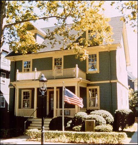 The Kennedy family home at 83 Beals street, Brookline, Massachusetts.