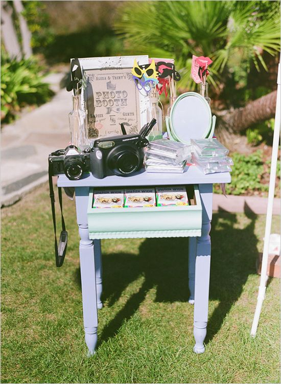 photo booth ideas #photobooth #weddingchicks http://www.weddingchicks.com/2013/12/20/mint-and-peach-wedding/