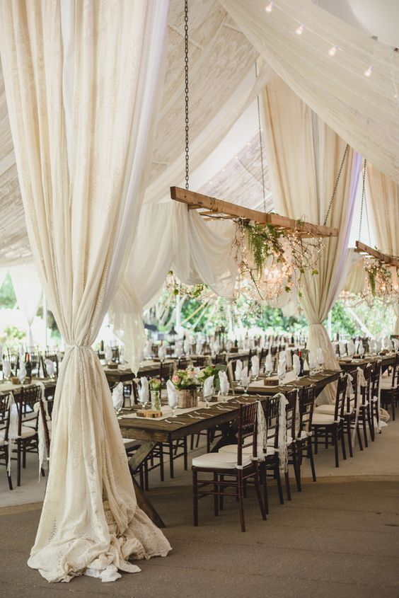 Rustic wedding reception idea; Hannah Woodard Photography