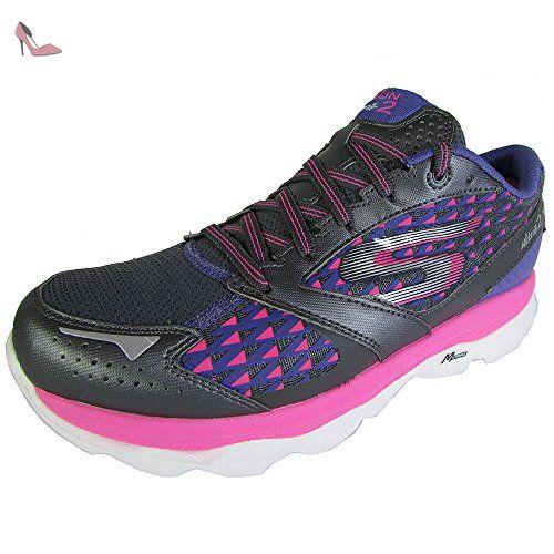 Skechers Go Run Ride 4 Excess, Chaussures de Running Entrainement Femme, Noir (Noir/Rose), 39 EU (6 UK)