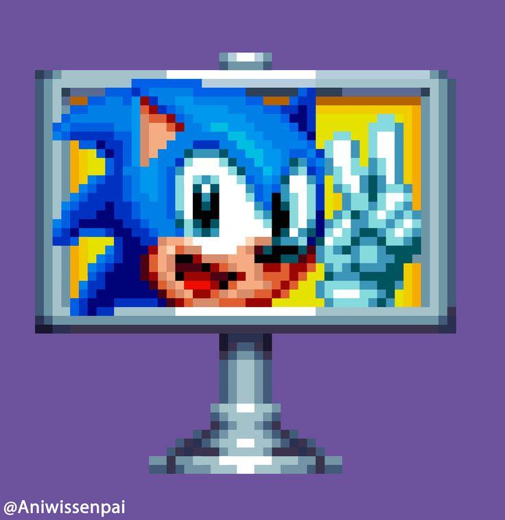 Sonic-Mania-Pixel-Art-Win-Logo by Aniwis245