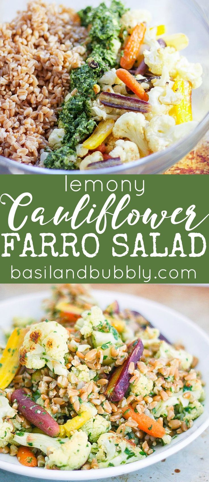 Lemony Basil, Carrot and Cauliflower Salad is my FAVORITE lunch to take to work.