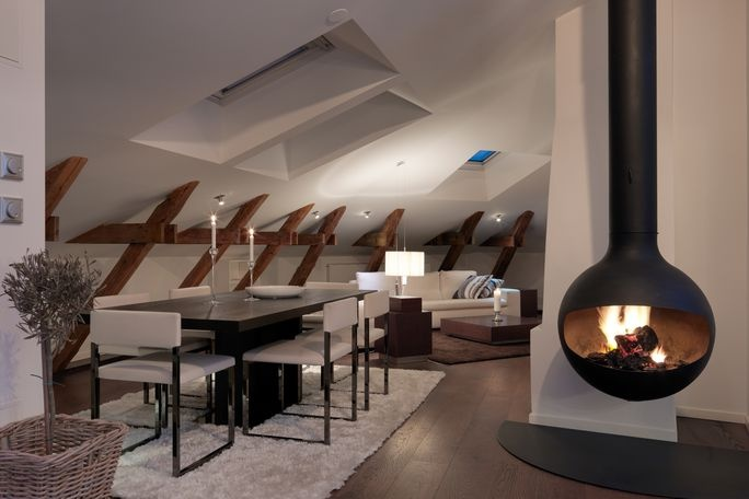 Hanging Fireplace | Fire Orb | Architecture and Design | Pinterest ...