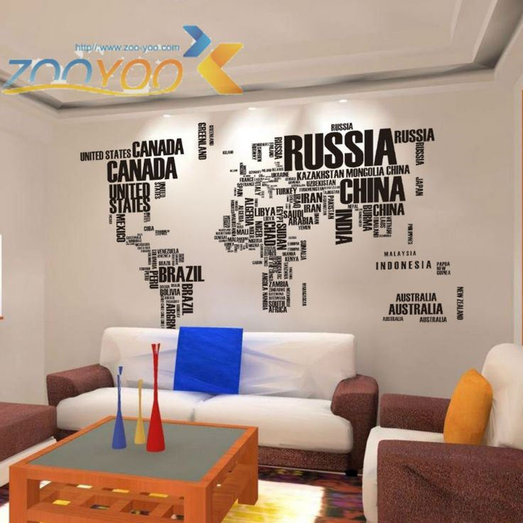 Cheap decor sticker, Buy Quality decorative vinyl wall stickers directly from China decorative window stickers Suppliers: Black Letters World Map wall stickers Removable Decal adesivo adesivos decorativos Art Mural Home Decor ZYPA-95AB