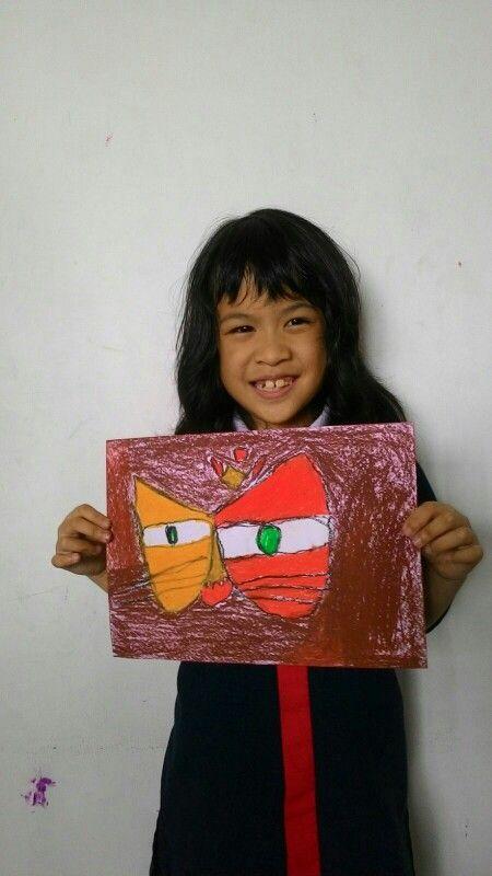 Rachel - Paul Klee - Cat and Bird @Palmtrees Montessori School