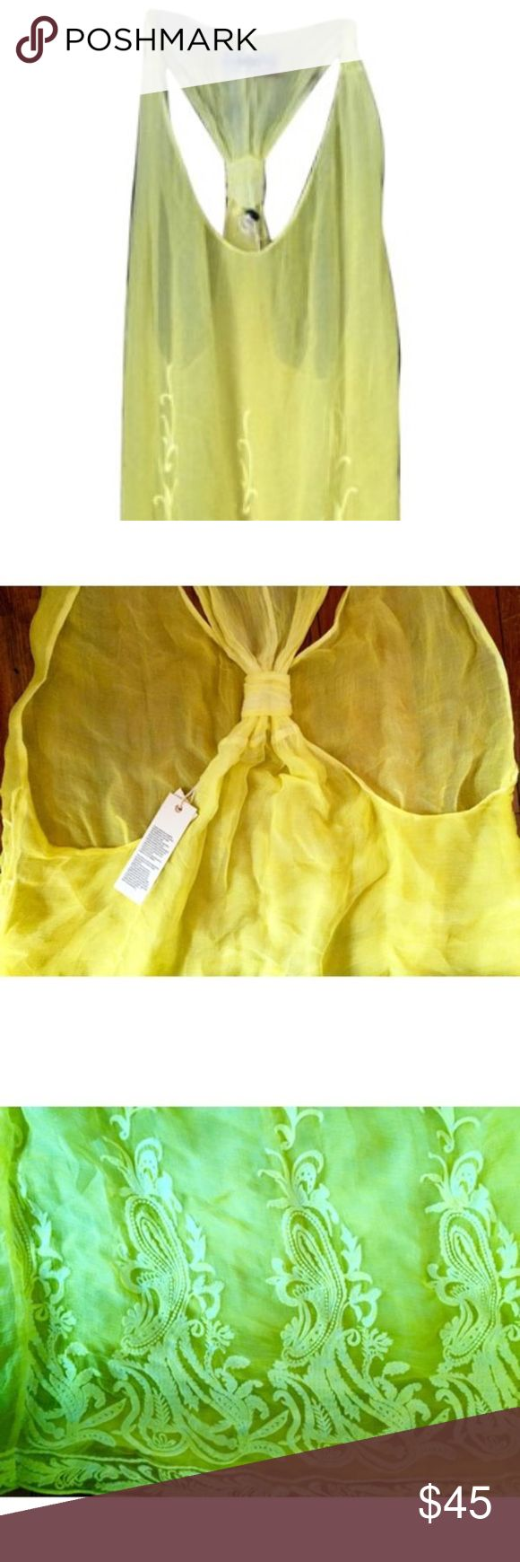 Diesel dress Flowing yellow cocktail dress. Perfect for a summer wedding or a night out! Diesel Dresses