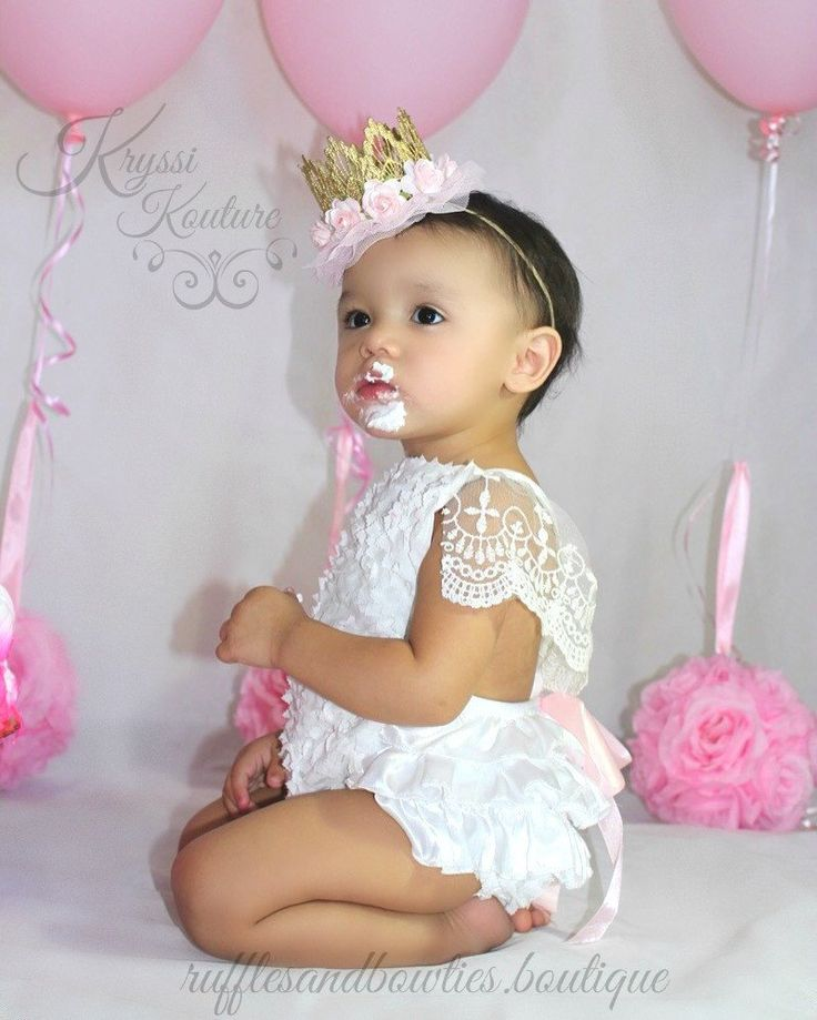 Amy White Vintage Lace 6 Month & First  Birthday White Ruffle Romper - Smash Cake Romper - Baby White Lace V Back Romper - Baby Girl - Ruffles & Bowties Bowtique - 2