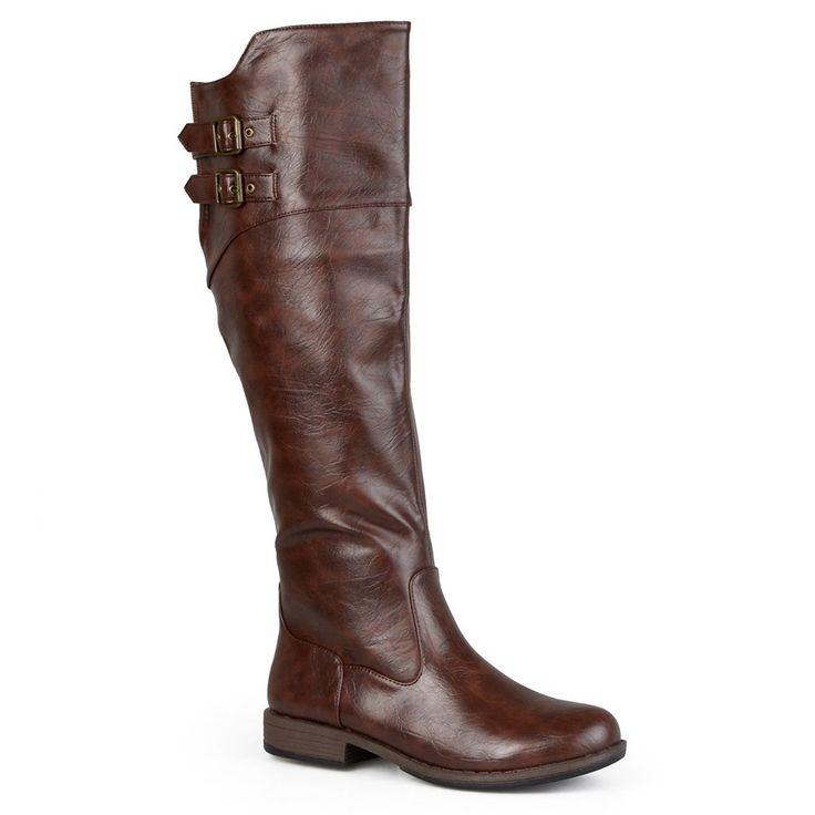 Journee Collection Tori Women's Knee-High Boots, Size: medium (8.5), Brown