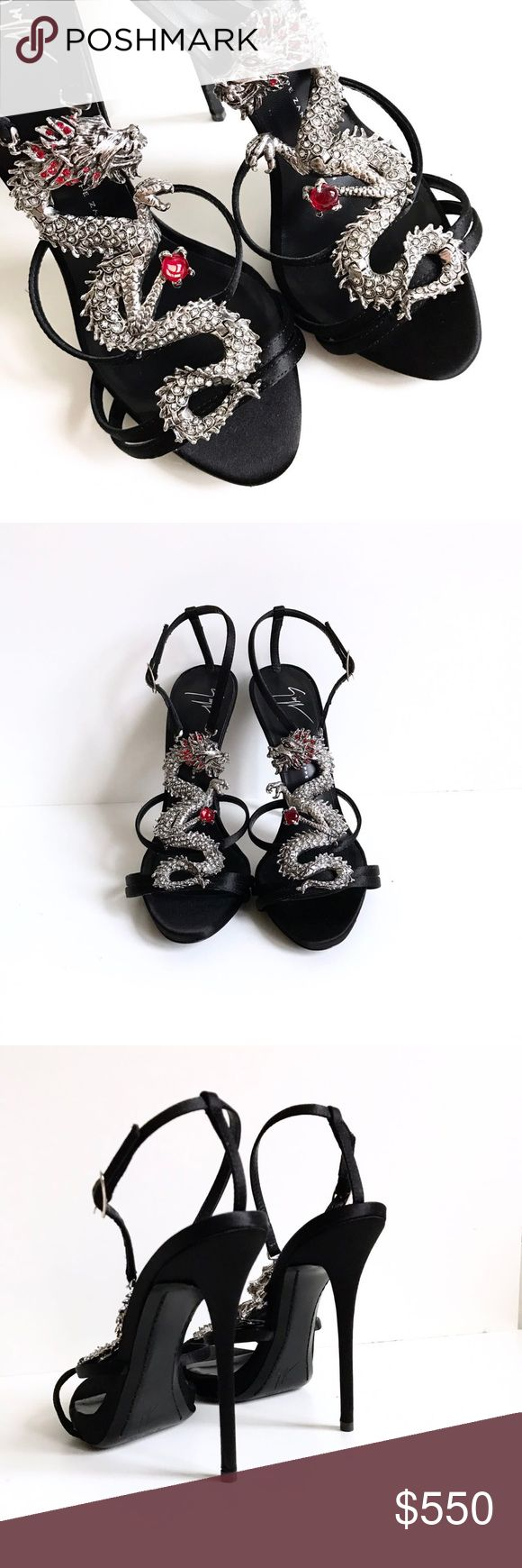 Authentic Giuseppe Zanotti Silver Dragon Heels This one is very rare and so pretty! And it is BRAND NEW with original box! Open for offer. Giuseppe Zanotti Shoes Heels #giuseppezanottiheelssilver