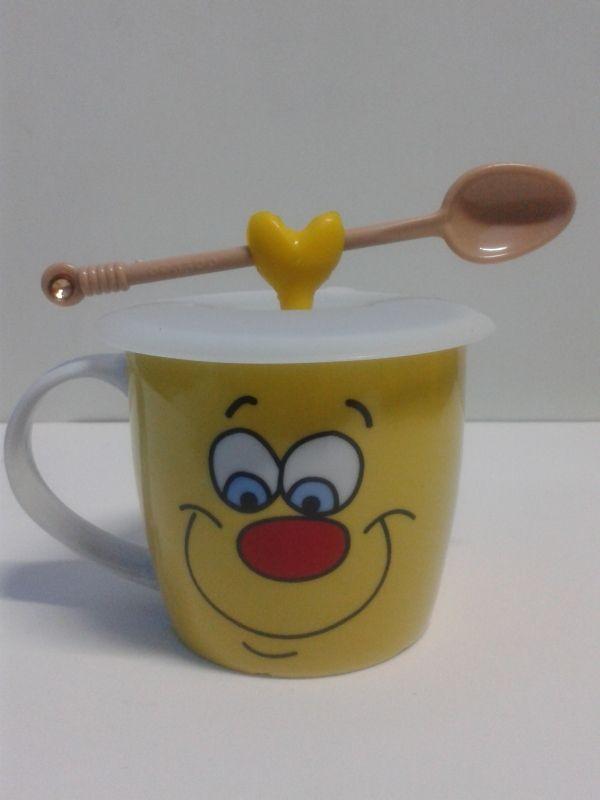 Mug en cerámica decorativos caras multifacéticas con tapa de goma. #MugsDecorativas #Detalles
