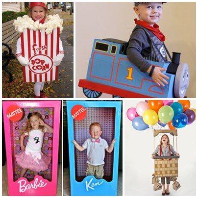 Scuola in soffitta – Blog per mamme creative 12 Costumi di Carnevale realizzati con scatoloni
