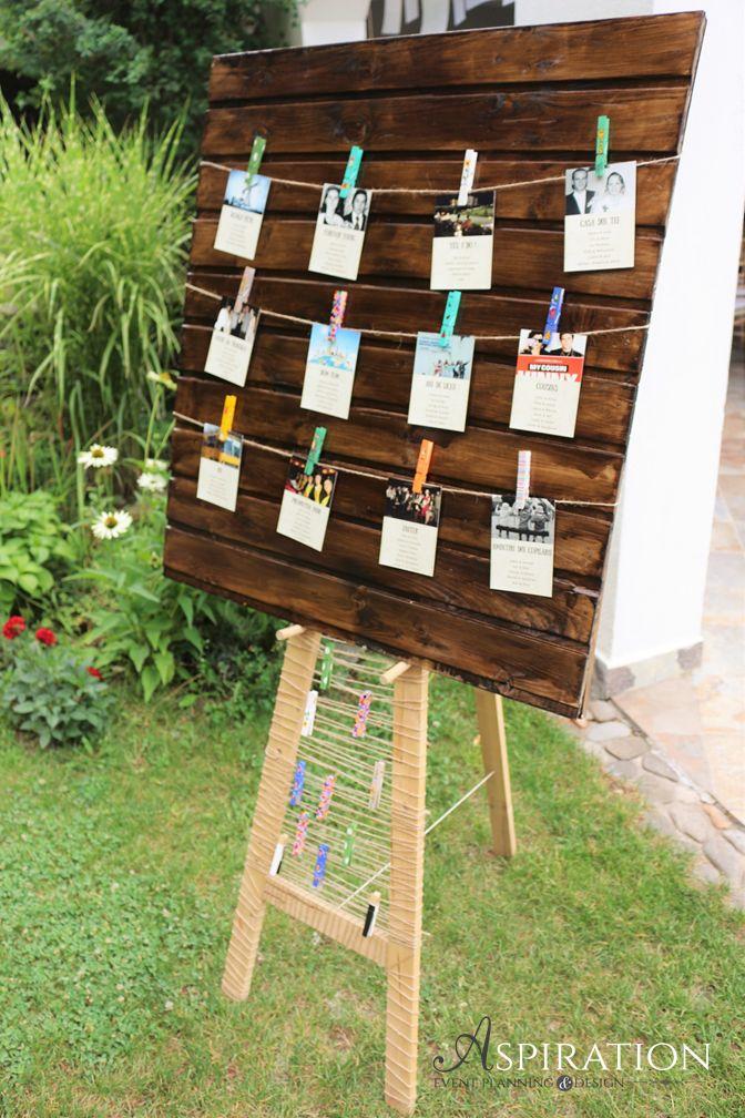 Panou din lemn pentru harta meselor, de inchiriat Aspiration Events