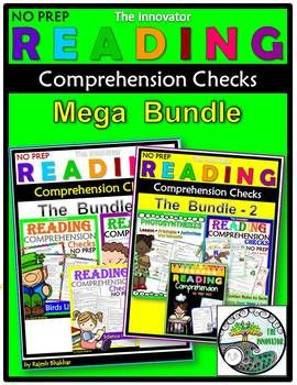 Reading Comprehension Checks  Mega Bundle..This MASSIVE Reading Comprehension Check NO PREP Mega Bundle is a compilation of my all Reading Comprehension Check NO PREP & Unit plan with worksheets for grade 1 to 5! This bundle provides tons of hands-on and interactive learning for kids!