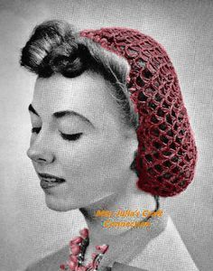 Vintage Crochet: 10 Crochet Snood Patterns: 1939 Vintage Crochet Snood Pattern
