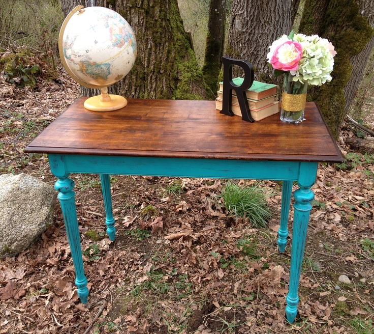 vintage sofa table painted with maison blanche paint in colette sold. Black Bedroom Furniture Sets. Home Design Ideas