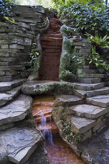 THE CHALICE WELL, GLASTONBURY, I COLLECTED WATER FROM HERE TO USE AT MY ELDEST SON'S CHRISTENING