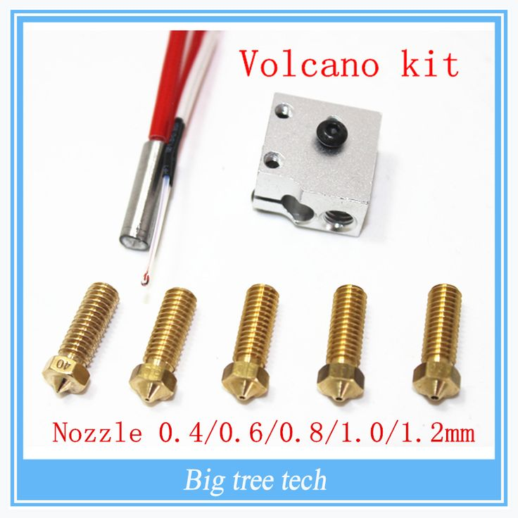 <b>3D printer parts</b> 3D Volcano <b>hot</b> end eruption pack kit/set heater ...