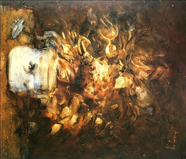 """78. Татлин Владимир """"Букет"""" 1940 Дерево, масло 39,5х33,8 Собрание Т.Рубинштейн и В.Мороз"""