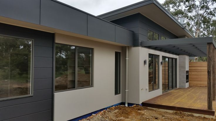 During Construction - Inverleigh Custom Home - North Living Deck.  Design & Build by Pivot Homes.