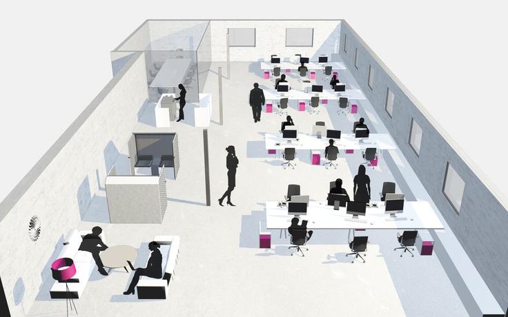 handige oplossingen, printerruimte, lounge ruimte en kort overleg