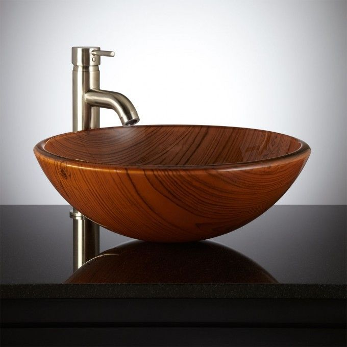 Featuring The Beautiful Detail Of Natural Wood Carvings, The Woodland Glass  Vessel Sink Is The Perfect Finishing Touch To Your Custom Lavatory.