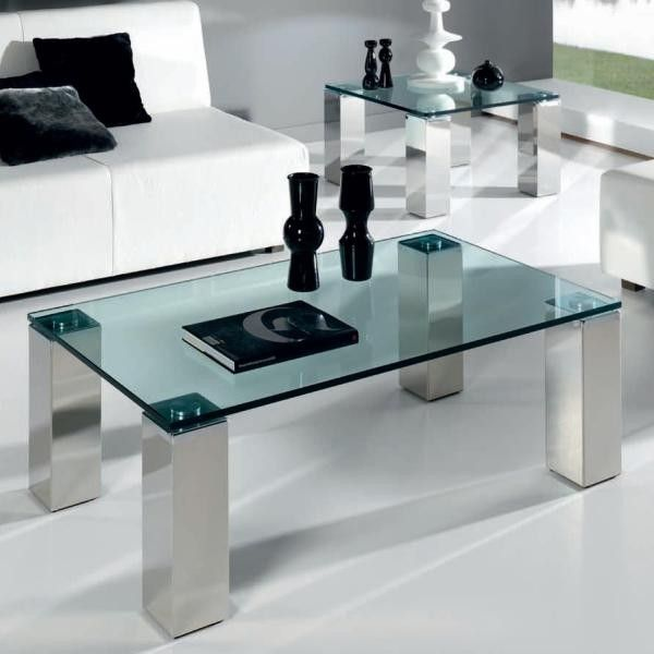 Mesa de centro vision inox mesas de centro modernas for Mesas de centro modernas