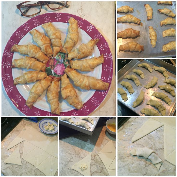 Try to make mini cheese croissant, the dough is from puff pastry and tadaaaaaa my mini cizz cro ready to served