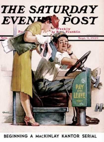 Norman Percevel Rockwell (3 de febrero de 1894, Nueva York – 8 de noviembre de 1978, Stockbridge) fue un ilustrador, fotógrafo y pintor estadounidense célebre por sus imágenes llenas de ironía y humor. Su carrera se verá para siempre inmortalizada por su empleo como ilustrador oficial del Saturday Evening Post, una revista de actualidad y sociedad.