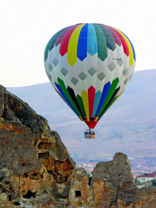 Hot air balloon in Kayseri, Turkey