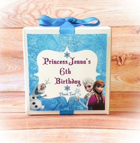 12 Frozen Party Personalized Party Favor Boxes On Etsy Frozen Birth