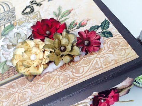Video Aula: Caixa Chic com flores | Livia Fiorelli | Livia Fiorelli | Li...