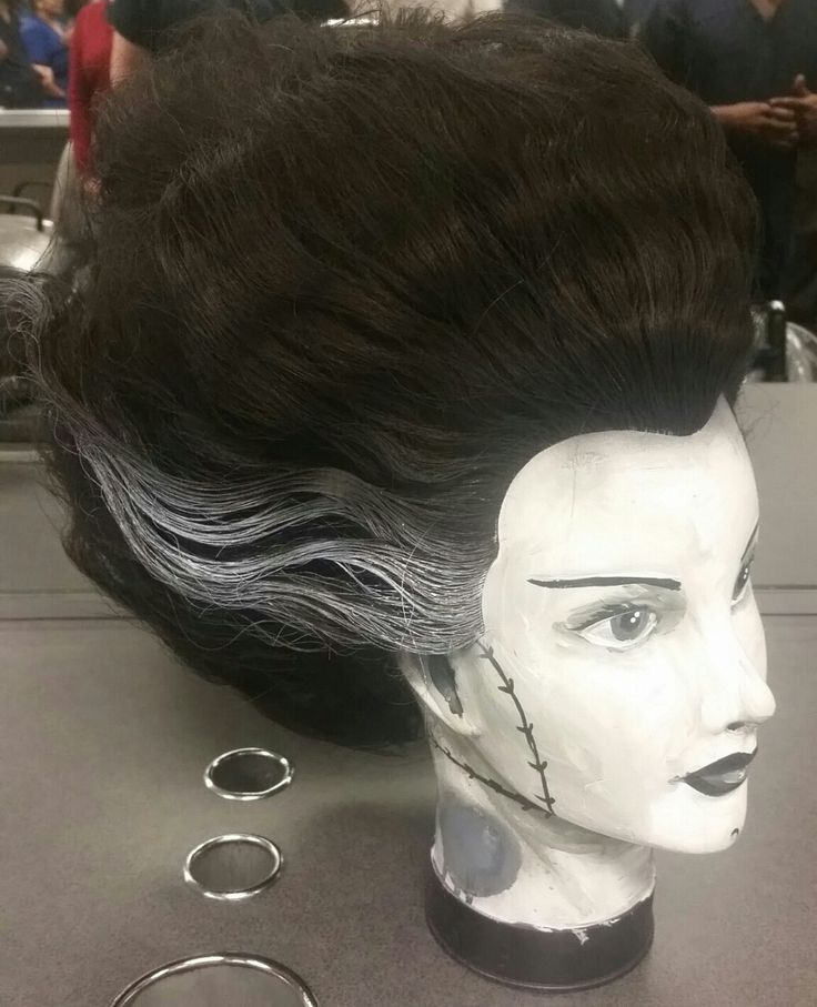 Won first place in cosmetology mannequin halloween contest!