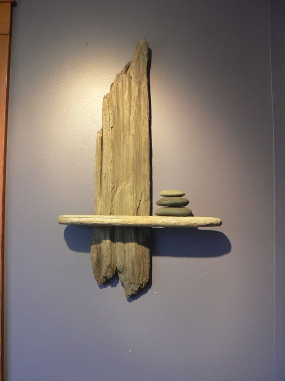 Zen Retreat decor Driftwood shelf driftwood by FlotsamJetsamCrafts