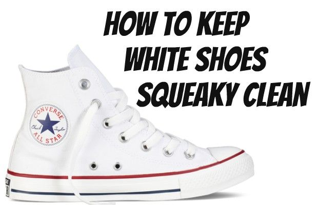 How to Keep White Shoes Squeaky Clean White shoes look awesome the first week you have them, then it is downhill from there. They only stay white for a short time, and then they turn a queasy shade of brown that is extremely unappealing. I have a pair of white Keds that are my everyday go-to shoes, and they get dirty so quickly!... Read More at http://www.chelseacrockett.com/wp/tutorials/how-to-keep-white-shoes-squeaky-clean/. Tags: #Diy, #HowToKeepWhiteShoesSqueakyCle