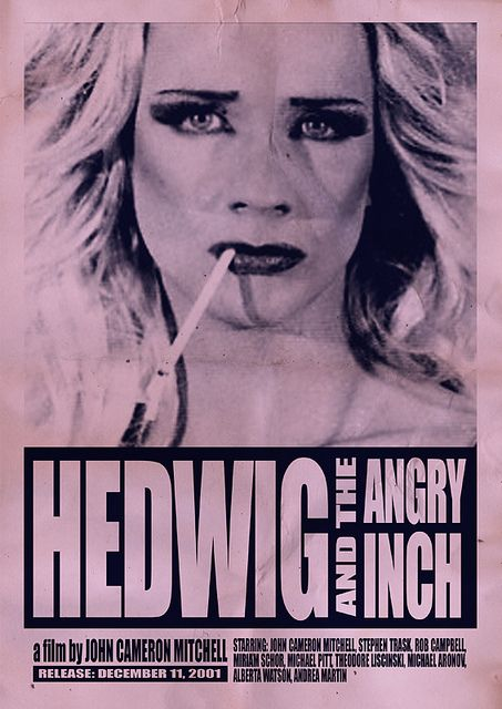 Hedwig:  Dust Jackets, Inch 2001, Movies, Cameron Mitchell, John Cameron, Drag Queen,  Dust Covers, Hedwig And The Angry Inch Art, The Originals
