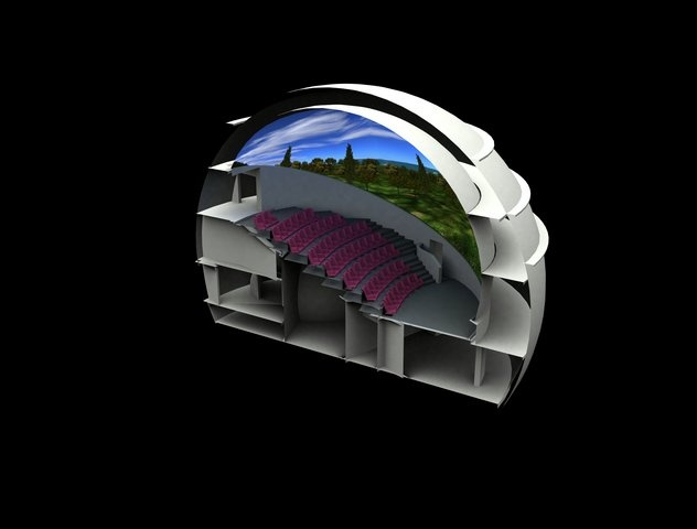 "Tholos - Dome-shaped Virtual Reality ""Theatre""  (http://www.tholos254.gr)"