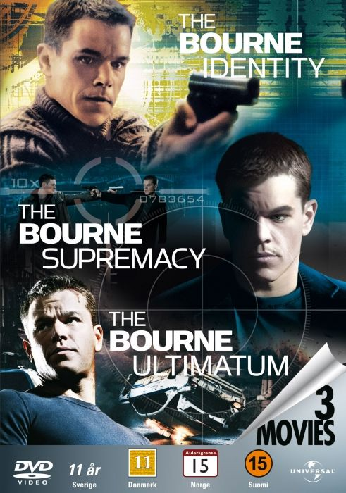 Bourne Identity Trilogy | Bourne Trilogy Box - Identity - Supremacy - Ultimatum  Dvd Film ...