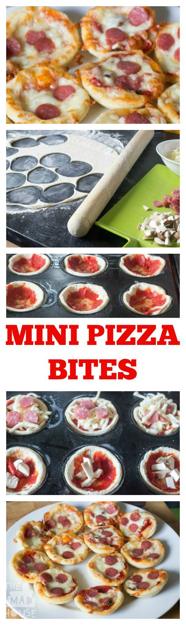 mini pizza bites tall