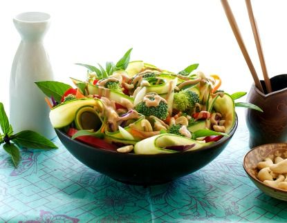 RAW Vegan Pad Thai. Humane Society's Meatless Monday Recipe