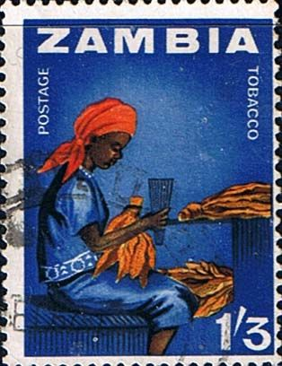 Postage stamps of Zambia 1964 Industries SG 102 Fine Mint Scott 12 Other Zambia Stamps For Sale HERE
