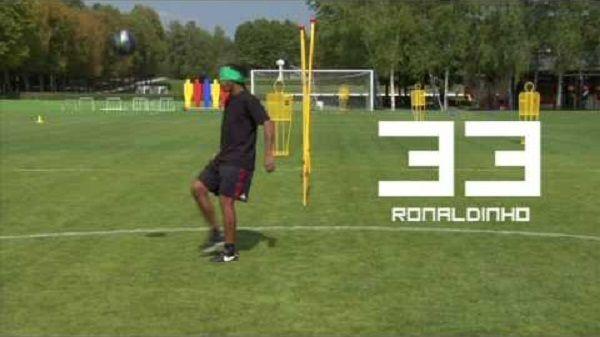 Brazylijczyk zdecydowanie lepszy od Xaviego, Benzemy, Lewandowskiego, Chielliniego • Ronaldinho Gaucho żongluje z opaską na oczach >>