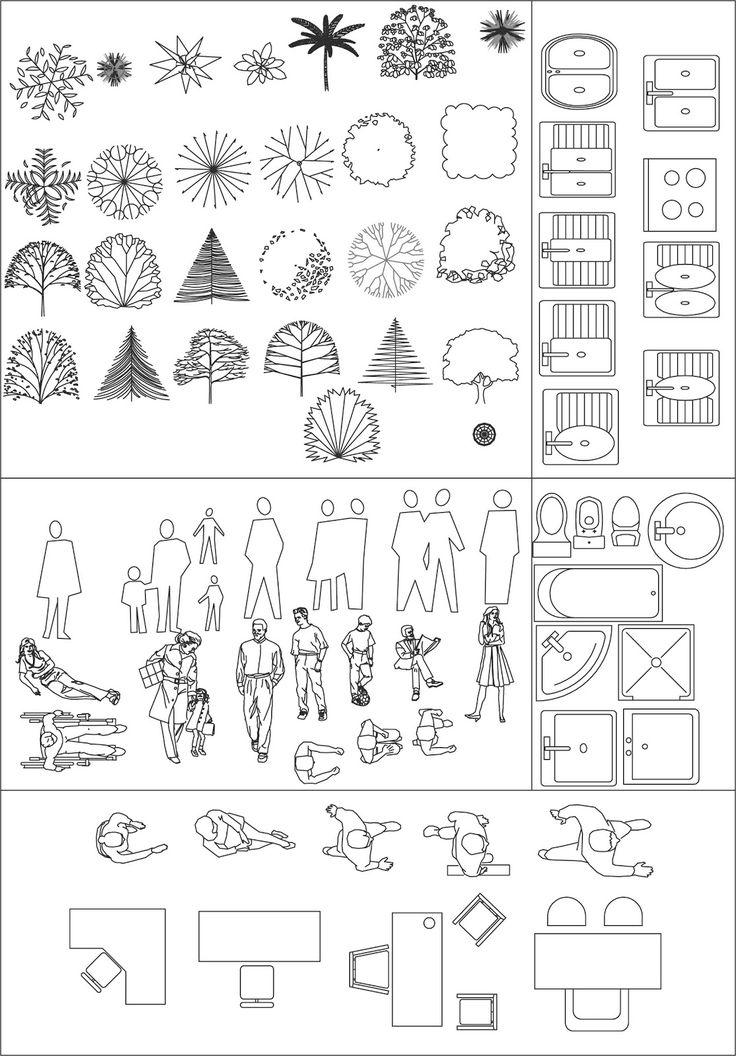 M s de 25 ideas incre bles sobre autocad en pinterest for Simbologia en planos arquitectonicos
