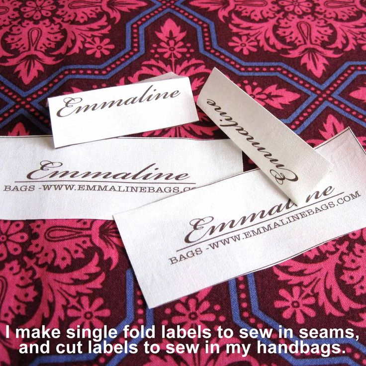 Best 25 Sewing Labels Ideas On Pinterest Diy Clothes