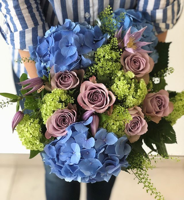 The Gorgeous Blue Hydrangea Bouquet Is One Of Our Summer Favourites Online Flower Shop Flower Delivery Blue Hydrangea Bouquet