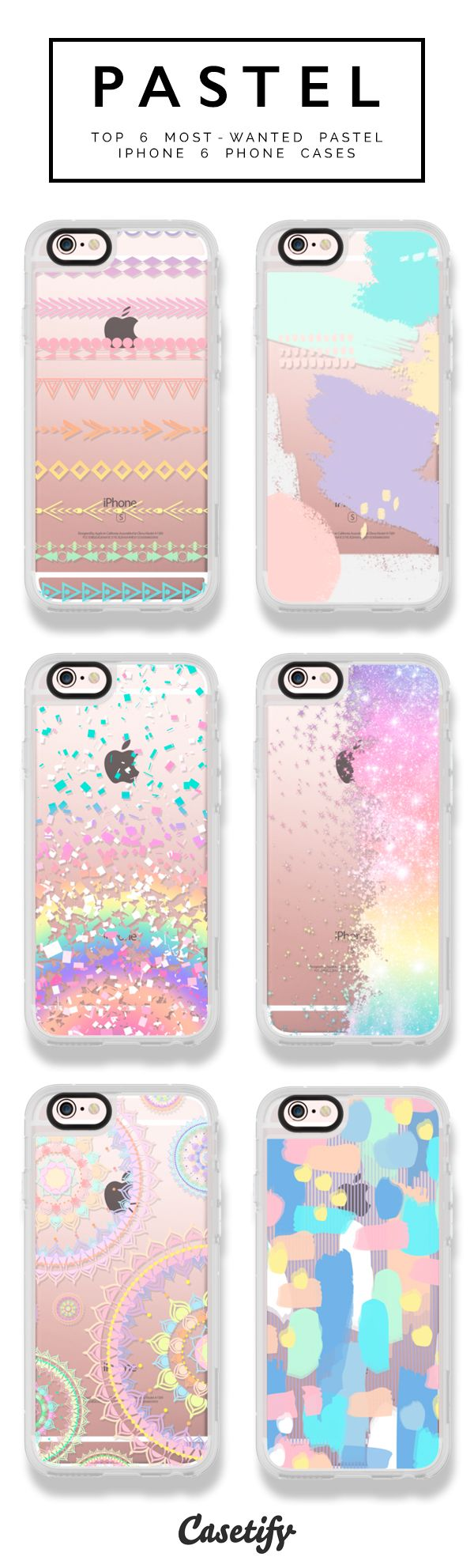 pinterest: @jaidyngrace 6 most wanted pastel iPhone 6 protective phone cases | Click through to see more pastel color palette iphone case ideas >>> https://www.casetify.com/artworks/ZwiXLUrvly | @casetify