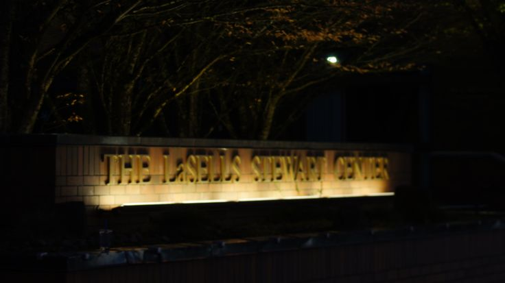 This photo represents the Light principle. This is a name of a building in the OSU campus at night. The light source is beneath the letters which makes them shine at night, and makes unusual looking, so it grabs the people attention.