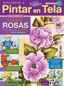 Revista bienvenidas aprendiendo a pintar tela pintura - Aprender a pintar en madera ...