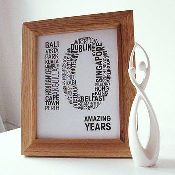 personalised 10th wedding anniversary print