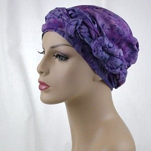 Alopecia or chemo hair loss? Decorate your head with a new look every day with these 2 piece sets. Hat completely covers your head (no fussing!). Tie the scarf to suit your mood!