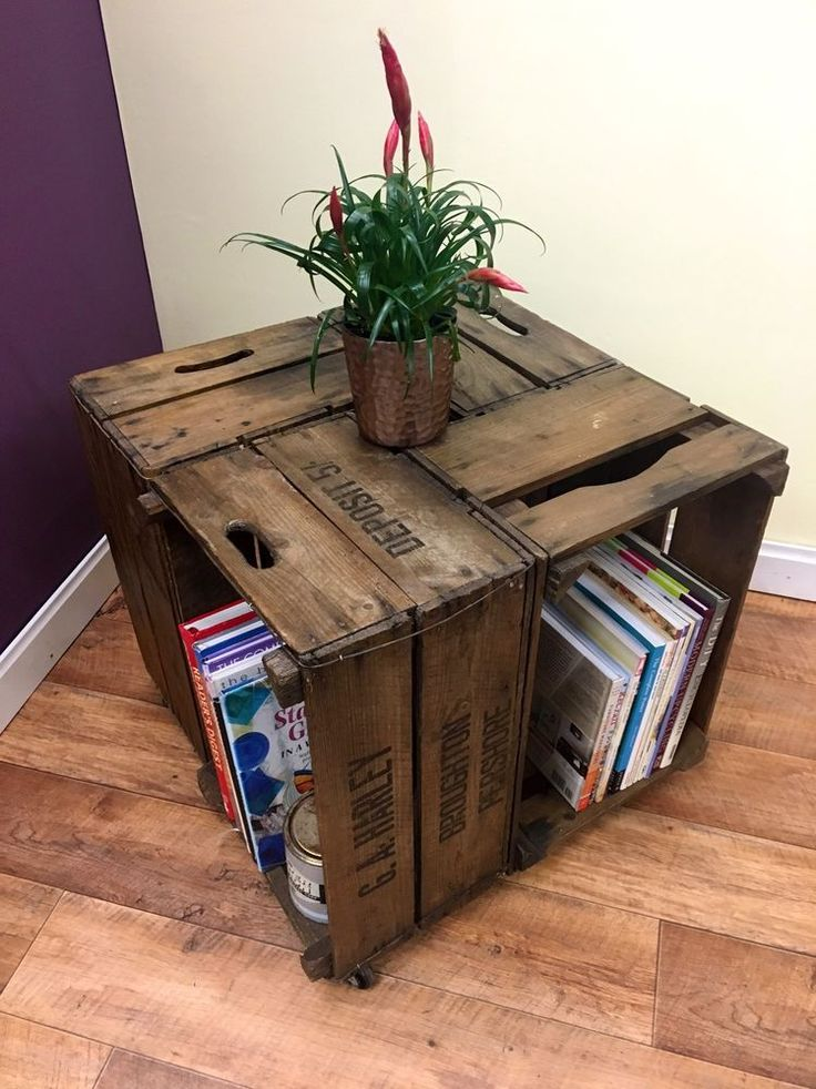 Vintage Apple Crate coffee table